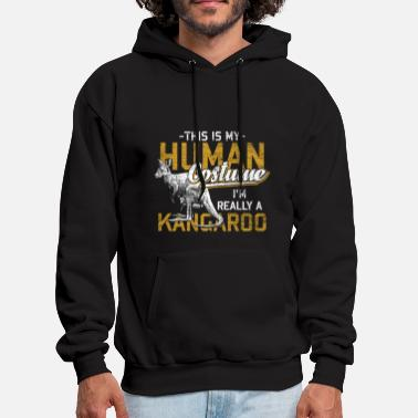 Marsupial Kangaroo Animal Australia Backpacker Marsupial Sun - Men's Hoodie