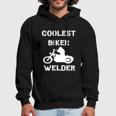 Anarchism Personalised Coolest Biker Welder Gift Gang Anarch - Men's Hoodie