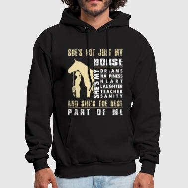 she is not just my farm t shirts - Men's Hoodie