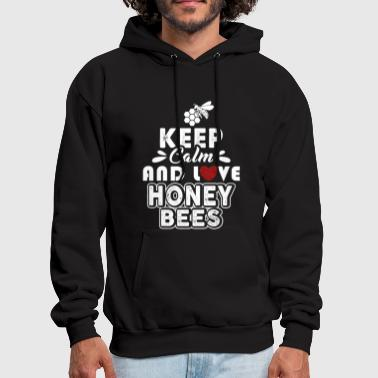 Keep Calm And Love Honey Bee Shirt - Men's Hoodie