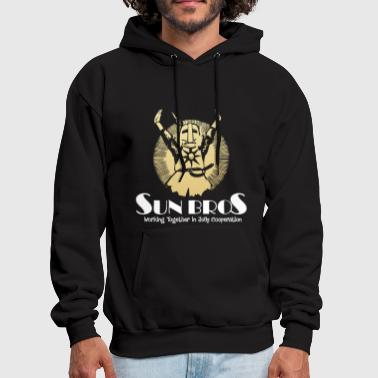 Sun bros working together in jolly cooperation Dar - Men's Hoodie