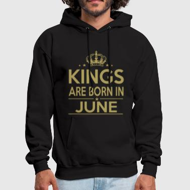 Kings are born in June shirt - Men's Hoodie