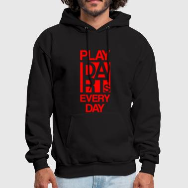 Darts Dart - Play Darts every day. - Men's Hoodie
