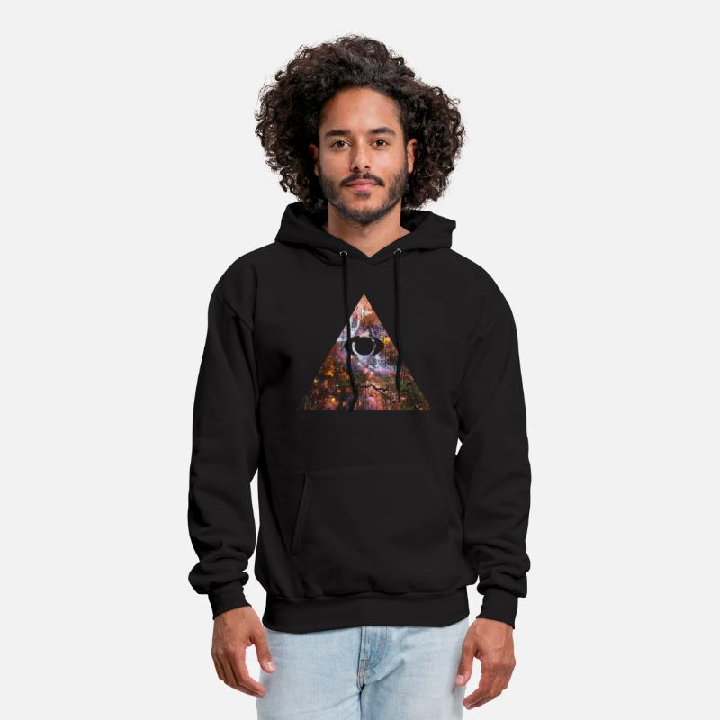 Black Pyramid Hoodies & Sweatshirts - Cosmic Pyramid - Men's Hoodie black