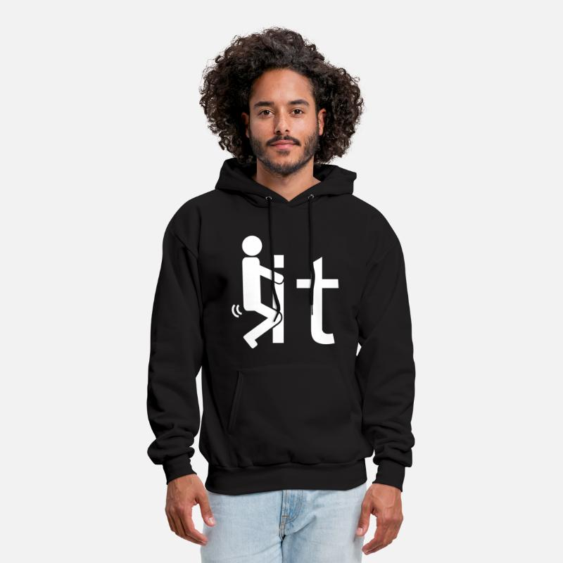 Fuck Hoodies & Sweatshirts - Fuck It - Men's Hoodie black