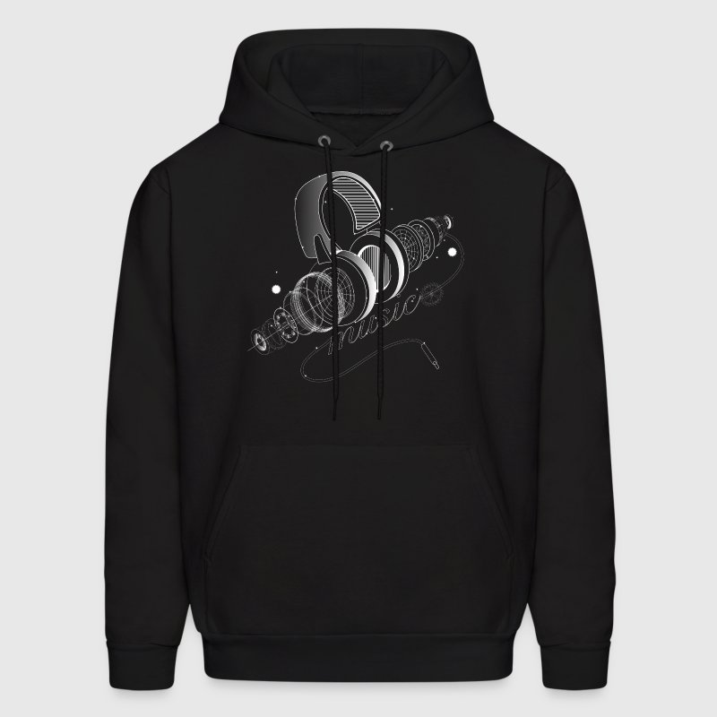 Items of headphones - Men's Hoodie