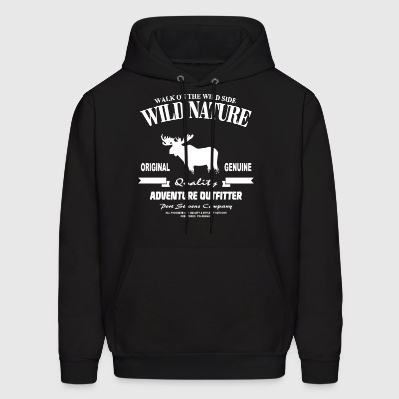 Wild Nature - Moose - Men's Hoodie