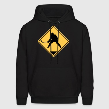 Hockey Road Sign - Men's Hoodie