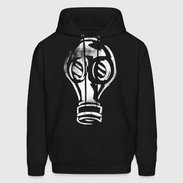 Grunge Gas Mask Graffiti White - Men's Hoodie