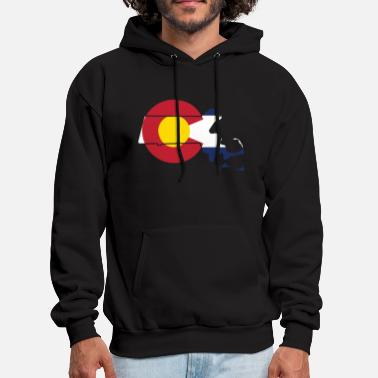 Massachusetts Massachusetts Colorado Funny Pride Flag Apparel - Men's Hoodie