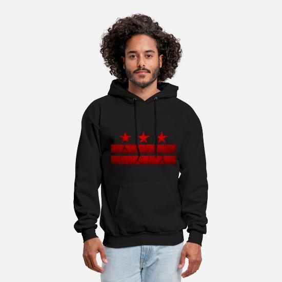 Washington Hoodies & Sweatshirts - Washington -DC- Flag Vintage - Men's Hoodie black