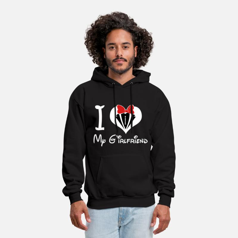 Love Hoodies & Sweatshirts - i_love_my_girlfriend - Men's Hoodie black