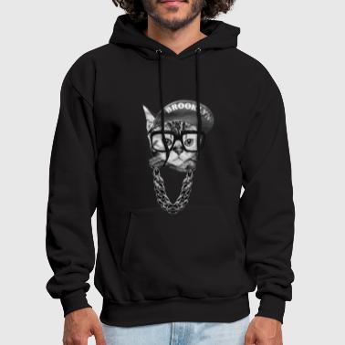 Bridge Brooklyn cat - Cool Brooklyn cat awesome t-shirt - Men's Hoodie
