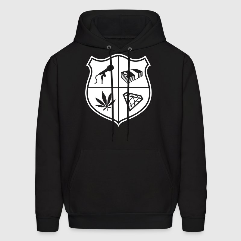 Music, Money, Weed and Jewels (1 color) - Men's Hoodie