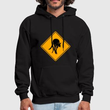 Brisbane Kangaroo Road Sign - Men's Hoodie