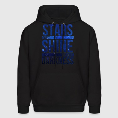 (STARS CAN'T SHINE WITHOUT DARKNESS) Blue Galaxy - Men's Hoodie