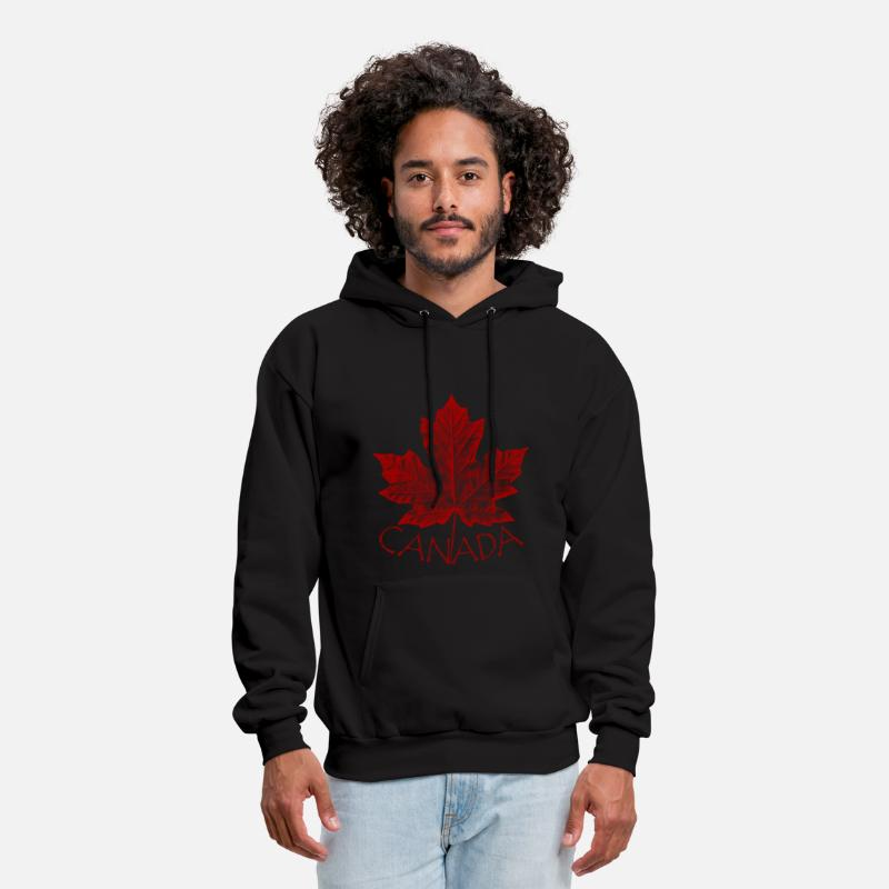 Canada Hoodies & Sweatshirts - canada maple leaf souvenirs canada gifts - Men's Hoodie black