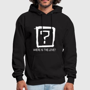 Question Mark Where is the love - Men's Hoodie