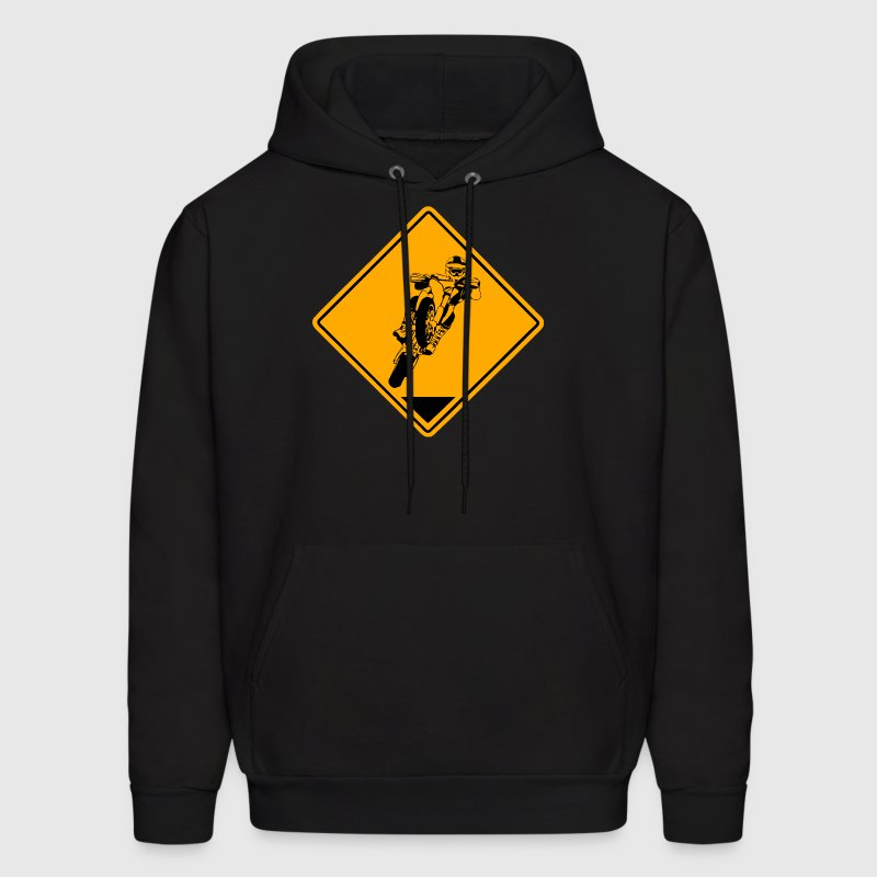 Supermoto Road Sign - Men's Hoodie