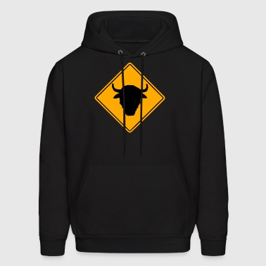 Buffalo Road Sign - Men's Hoodie