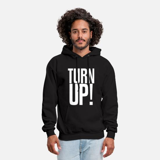 Crazy Hoodies & Sweatshirts - Turn Up Design - Men's Hoodie black