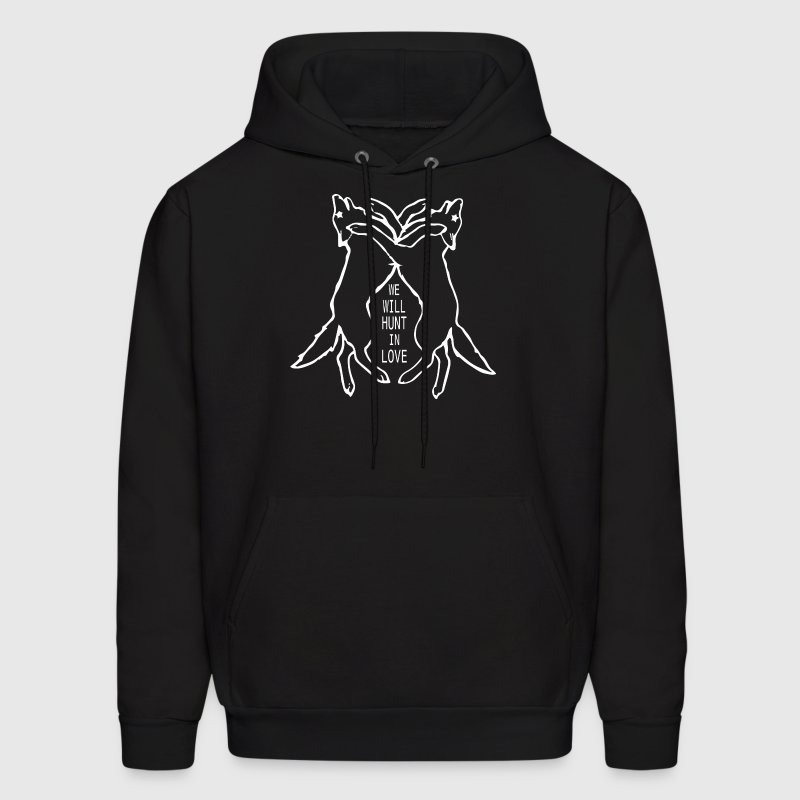 We Will Hunt In Love - Men's Hoodie