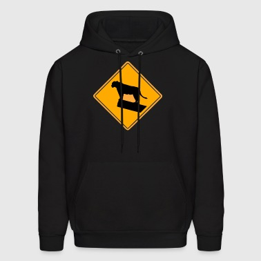 Lion Road Sign - Men's Hoodie