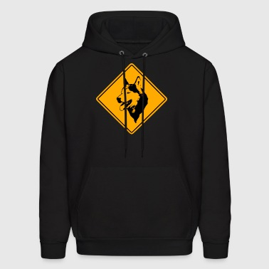 Husky Road Sign - Men's Hoodie