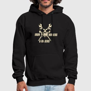 Iron workers and riggers skull - Men's Hoodie