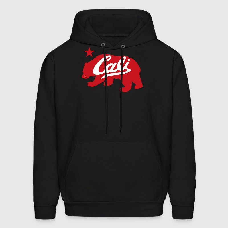 Cali Red Bear - Men's Hoodie