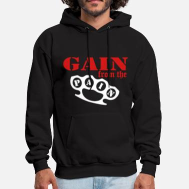 Brass gain_from_the_pain - Men's Hoodie