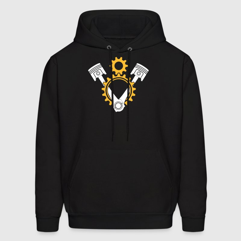 V8 Engine Pistons and Gears - Men's Hoodie