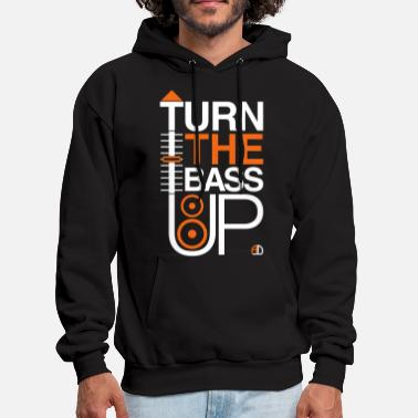 Subwoofer TURN THE BASS UP - Speaker and Music - Men's Hoodie