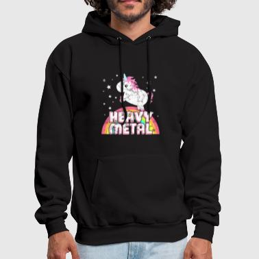 Iron Metal Ironic Heavy Metal Music Festival Party Unicorn - Men's Hoodie