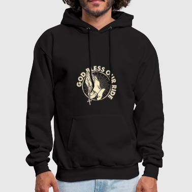 (Gift) Biker God Bless our ride - Men's Hoodie