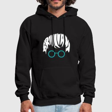 Brilliant Brilliant Head with glases - Men's Hoodie
