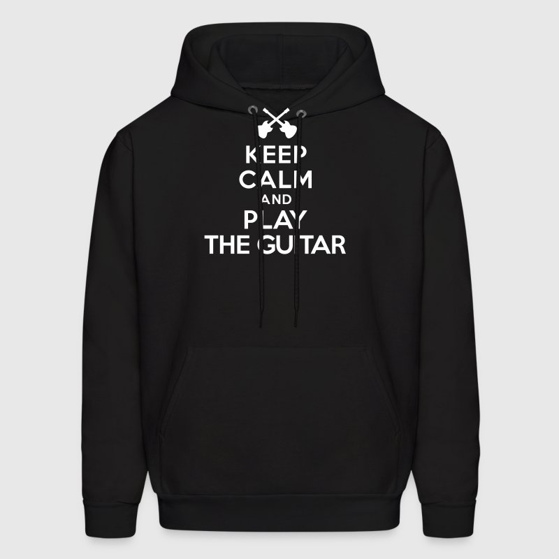 Keep calm and play the guitar - Men's Hoodie
