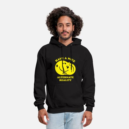 Funny Hoodies & Sweatshirts - Alternate Reality - Men's Hoodie black