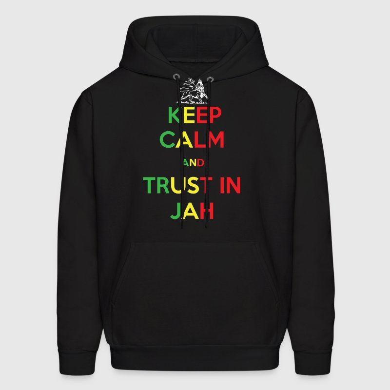 Keep Calm and Trust in Jah - Men's Hoodie