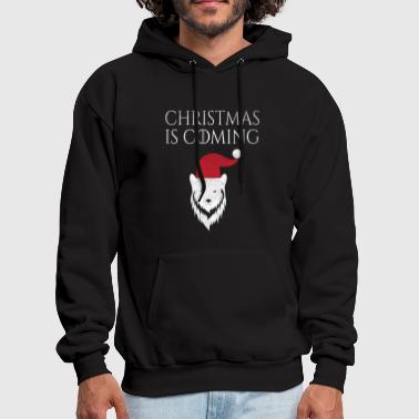 Christmas is Coming Funny Wolf - Men's Hoodie