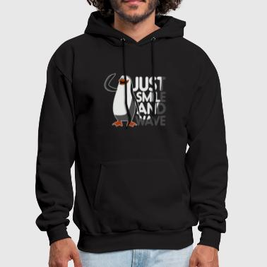 Reclusive Just Smile And Wave Awkward Penguin - Men's Hoodie