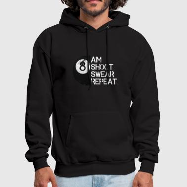 Funny Billiards T-Shirt, Distressed 8-Ball Pool - Men's Hoodie