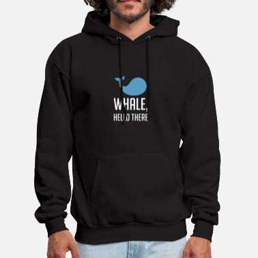 Whale Hello There - Animal Puns - Total Basics - Men's Hoodie