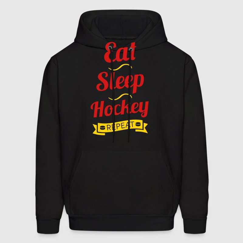 Eat Sleep Hockey Repeat - Men's Hoodie
