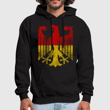 German Flag Eagle Vintage - Men's Hoodie