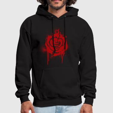 RWBY Ruby Spray paint Rose - Men's Hoodie
