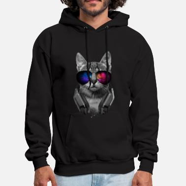 Music Lover Cat Music Lover Cat VII - Men's Hoodie