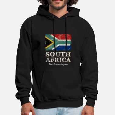 South South Africa Flag - Vintage Look  - Men's Hoodie
