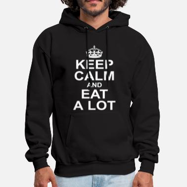 Pizza keep calm and eat a lot - Men's Hoodie