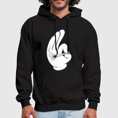 Weed cartoon_smoke_dope - Men's Hoodie